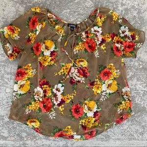 A.Byer Flowy, Sheer Floral Top